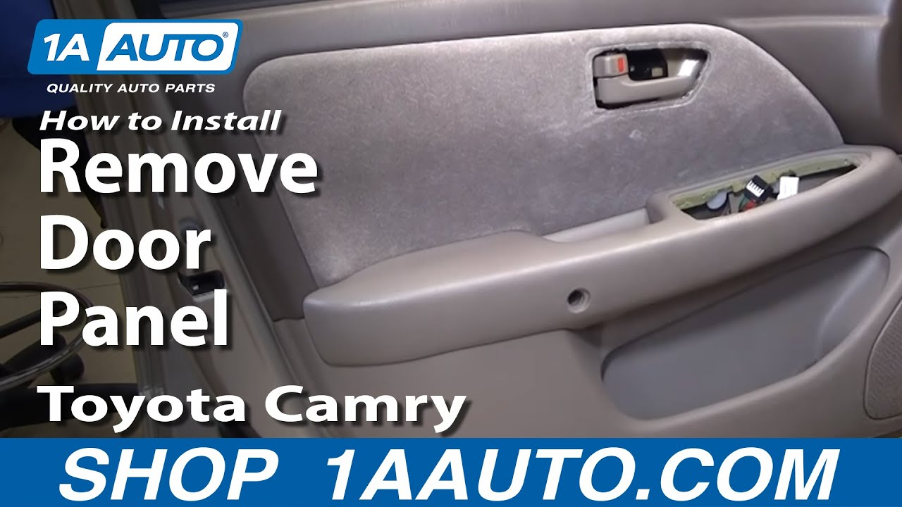 How To Install Replace Remove Door Panel Toyota Camry 97