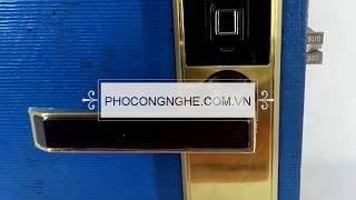 Giới thiệu Khóa điện tử vân tay Hune lock 918-88SL-F