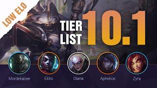 SEASON 10 LOW ELO LoL Tier List Patch 10.1 by Mobalytics - League of Legends