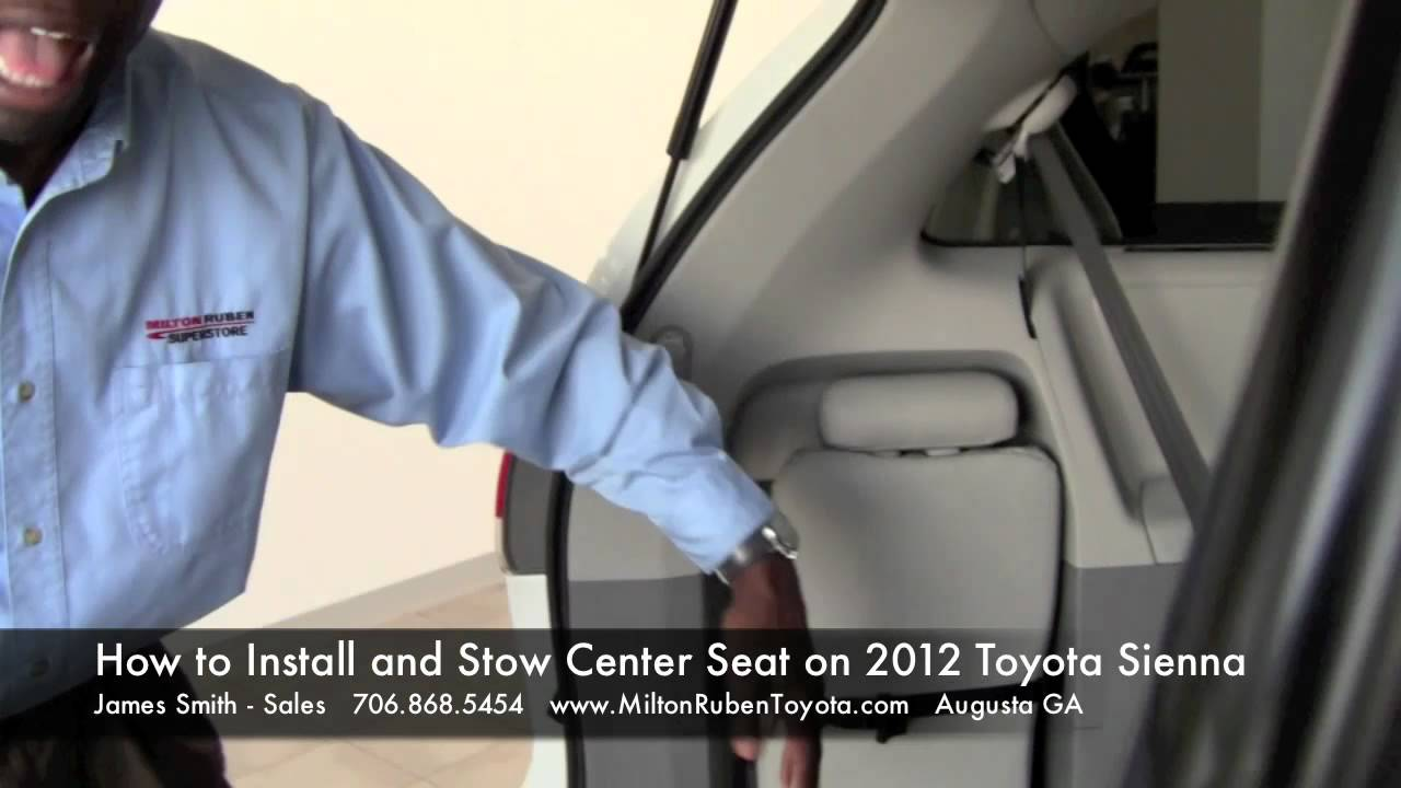 How To Install And Stow Center Seat On 2012 Toyota Sienna