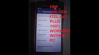 Itel A41 hard reset & Bypass Frp 100% SCC Google Account