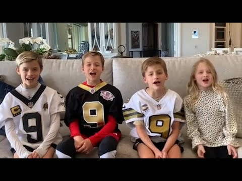 Drew Brees' kids announce his retirement from the NFL on Instagram, while Saints post tribute