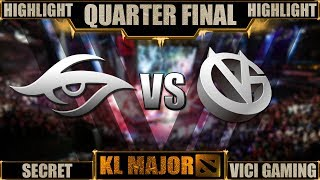 Secret vs Vici Gaming  - KL Major | HIGHLIGHT - Quarter Final | ENG 1080p