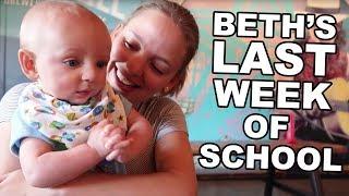 Beth's Last Week of School   Jordan's First Week at SCB