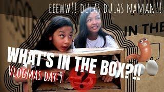 WHAT'S IN THE BOX CHALLENGE!! | Ahas?! Jellyfish?! Pupu ba eto?! | Vlogmas day 9 | Aurea & Alexa