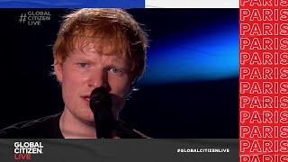 Ed Sheeran Enchants Paris Audience with Performance of 'Perfect' | Global Citizen Live