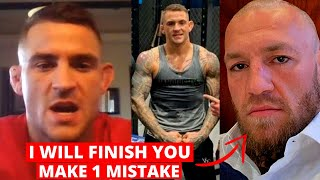 Dustin Poirier REACTS to Conor McGregor's 60 sec KO prediction, WARNS him about a finish, 1 mistake.