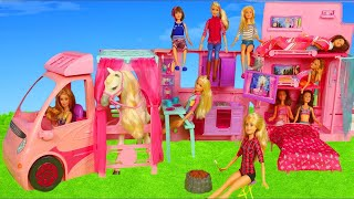 Barbie Dolls: Dream Camper Van Car Toys w/ Sisters Play Doll & Toy Vehicles for Kids
