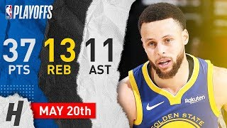 Stephen Curry Triple-Double Game 4 Highlights vs Blazers 2019 Playoffs - 37 Pts, 13 Reb, 11 Ast