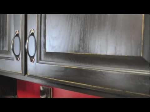 Diy Kitchen Cabinet Makeover Vinyl Lettering Accent Youtube
