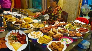 Dĩa cơm tấm 70k, cơm sườn 120k to đùng bán 30 năm trên vỉa hè Sài Gòn | street food saigon