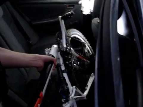 How to load a bicycle in your car