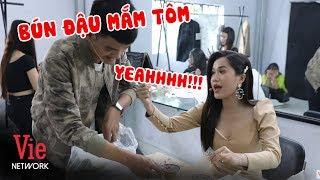 Mạc Văn Khoa đem bún đậu lên hậu trường mời Lâm Vỹ Dạ để vỗ béo | BTS Nhanh Như Chớp