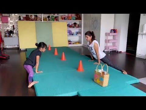 Manchu Lakshmi's workout with daughter Vidya Nirvana goes viral