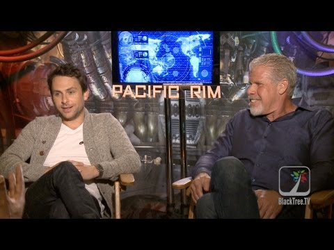'Pacific Rim' Interviews with Charlie Day and Ron Perlman - YouTube