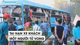 Xe giường nằm tan hoang sau tai nạn chết người, hành khách phá cửa thoát thân