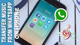 How to transfer music 🎶 files on WHATSAPP from iPHONE