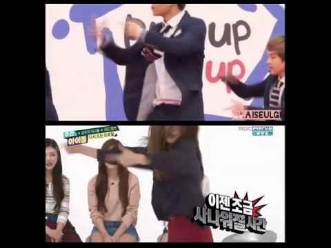Kai and Seulgi Danced to Growl - SeulKai/KaiSeulgi