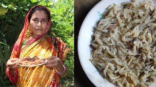 Prawns Fish Pakora Recipe | Kucho Chingri Macher Bora prepared by my mother | Village Food