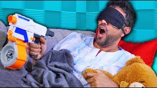 NERF Don't Wake Daddy Challenge! [Ep 3]