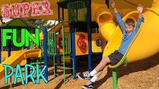 Huge Slides & Crazy Climbing Bars || Family Fun Pack Park Time!