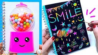 DIY School Supplies! 10 DIY Rainbow Stress Reliever Notebooks for Back to School