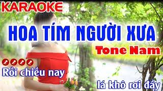 Hoa Tím Người Xưa Karaoke Nhạc Sống Tone Nam -Tình Trần Organ