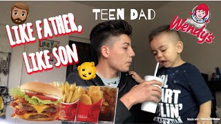 HOW IT FEELS TO BE A TEEN DAD AT 16   WENDY'S MUKBANG