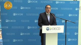 رئيس الوزراء والسكرتير العام لمنظمة التعاون الاقتصادي يعقدان مؤتمرا صحفيا بمقر المنظمة بباريس
