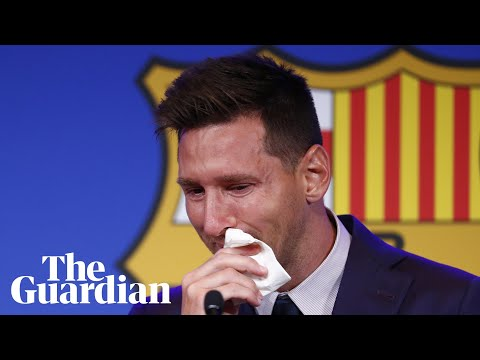 'I am here to say goodbye': Lionel Messi tearful as Barcelona exit looms