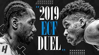 Kawhi Leonard vs Giannis Antetokounmpo BEST DUEL Highlights, 1-on-1 Plays from 2019 Eastern Finals!