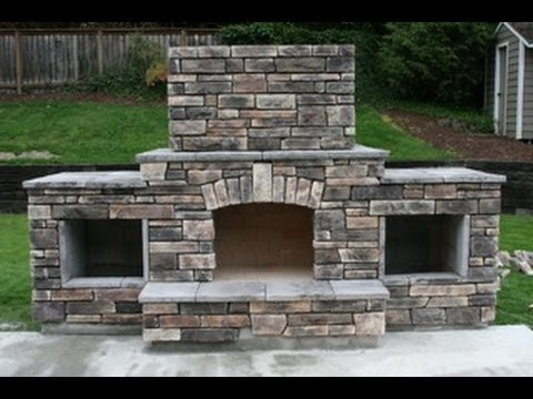 Diy Building An Outdoor Fireplace Youtube