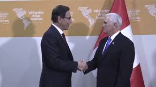 Vice President Mike Pence at the Summit of the Americas
