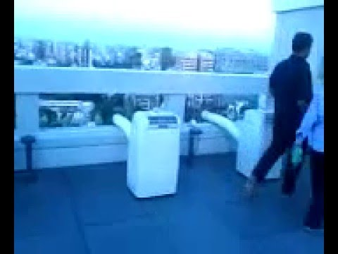 AMFAH Portable AC - Installed @ Bollywood Producer Mr.Karan Johar's New Home Terrace