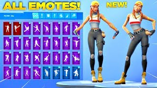 *NEW* AURA SKIN Showcase with All Fortnite Dances & Emotes! (Fortnite Item Shop May 7)
