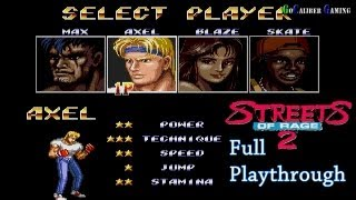 Streets Of Rage 2 Walkthrough - Full Playthrough - AXEL