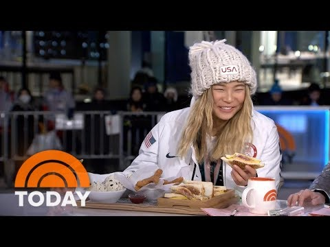 Chloe Kim Eats Churros Made Especially For Her After Winning Gold At The Winter Olympics | TODAY