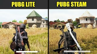 PUBG Lite vs PUBG STEAM (Graphics & FPS Comparison)