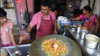 Tawa Pilau Rice Recipe + Chaat, Bhel, Pani Puri, Indian Street Food at Kanaiya Paubhaji Centre Kadod