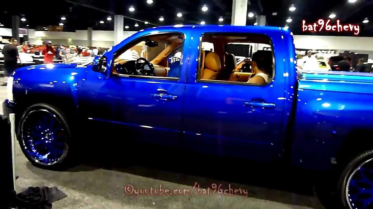 """Candy Blue Silverado Truck on 26"""" Forgiatos: V103 Car Show ..."""