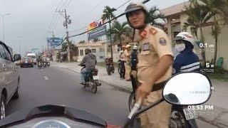 """CSGT Bình Chánh bắt láo gặp camera hành trình! """"Tới đi em""""!"""
