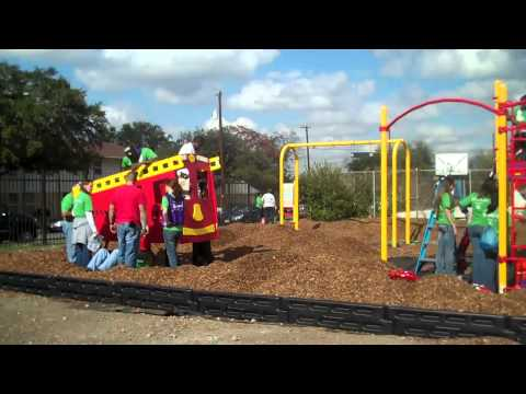 Kaboom Build Day: Building a Playground at Ella Austin Community Center