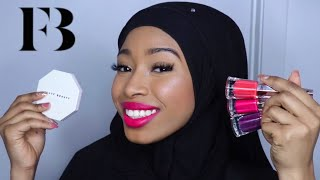 NEW FENTY BEAUTY WATTABRAT HIGHLIGHTER &  STUNNA LIP PAINTS SWATCHES AND REVIEW ON BROWN SKIN