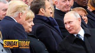 President Trump, Vladimir Putin Greet Each Other In Paris | Sunday TODAY
