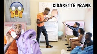 FOUND CIGARETTES IN LIL SISTER BACKPACK PRANK!!