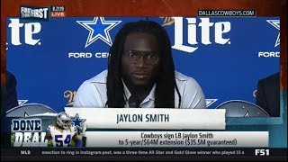 FIRST THINGS FIRST | Cowboys sign LB Jaylon Smith to 5-year/$64M extension ($35.5M guaranteed)
