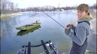 Winter Fishing FAIL (breaking the ice)