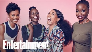 Black Panther's Female Warriors Lupita Nyong'o, Angela Bassett & Danai Gurira | Entertainment Weekly