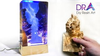 Easy making Epoxy Resin lamp | Diy Resin Art