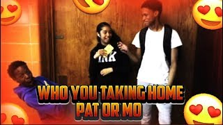 WHO YOU TAKING HOME ME OR THIS GUY | PUBLIC INTERVIEW (HIGH SCHOOL EDITION)